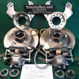 1946 64 Willy S Jeep Truck Station Wagon Front Drum To Disc Brake Conversion Kit Dana 25 27 Horsepower Sales Llc
